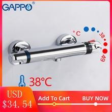 GAPPO Термостатический Для ванной душ управление клапан нижний кран настенный горячей и холодной латуни ванная комната смеситель ванна кран