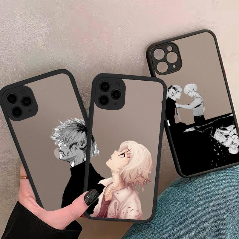 Tokyo Ghoul-funda de teléfono de anime para iphone, carcasa de lujo transparente mate para iphone 7 8 11 12 plus mini x xs xr pro max