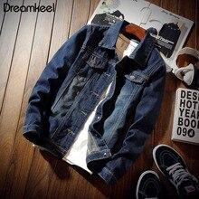 Мужская джинсовая куртка Модные мужские куртки и пальто тонкая весенняя верхняя одежда ковбойская одежда уличная одежда 3XL Y