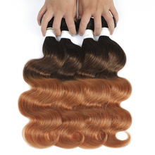 Body Wave Ombre Human Hair Bundles 1/3/4PCS Honey Blonde Brown Brazilian Hair Weave Bundles Non Remy Hair Extensions SOKU