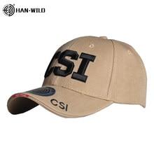 Casquette de Baseball tactique de l'armée HAN WILD CSI, chapeau brodé pour l'extérieur, pour hommes, décontracté à dos, pour papa, unisexe