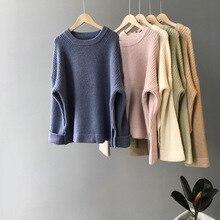 冬 2019 Mooirue 女性の韓国スタイルのセーター厚み弾性セーターファムピンクグレートップス