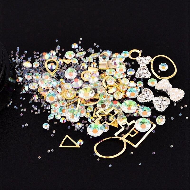 colorido misturado acrílico ponta diamante pedra jóia