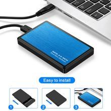 2,5 дюймов HDD SSD box 5 Гбит/с Sata на USB 3,0 2,0 адаптер поддерживает 2 ТБ внешний жесткий диск коробка Windows Mac Выделенный жесткий диск коробка