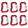 6 шт. сплав Карабин витой автоматический замок крюк парапланерная застежка двойной замок 20Kn прямоугольная пряжка