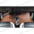 Lsrtw2017 кожаные Коврики для салона автомобиля smart fortwo 2007  2014  2013  2012  2011  2010  2009  2008  w451  451  аксессуары для автомобиля