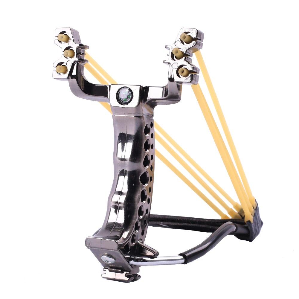 Potente Honda de caza con soporte para muñeca y brújula, decoración de catapulta, tirachinas profesional para tiro al aire libre