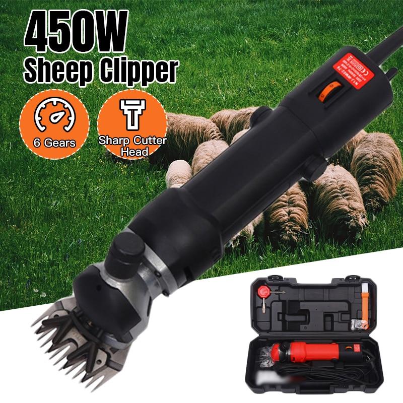 450W EU Plug Electric Sheep Pet Hair Clipper Shearing Kit Shear Wool Cut Goat Pet Animal Shearing Supplies Farm Cut Machine