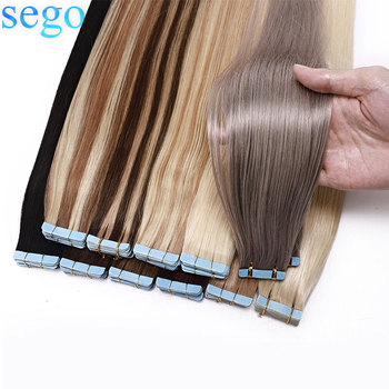 """Sego 12 """"-24"""" 2.5 G/stk 20Pcs Tape In Hair Extensions Non-Remy Huid Inslag Tape In Human Hair Extensions Double Side Tape Extensions"""