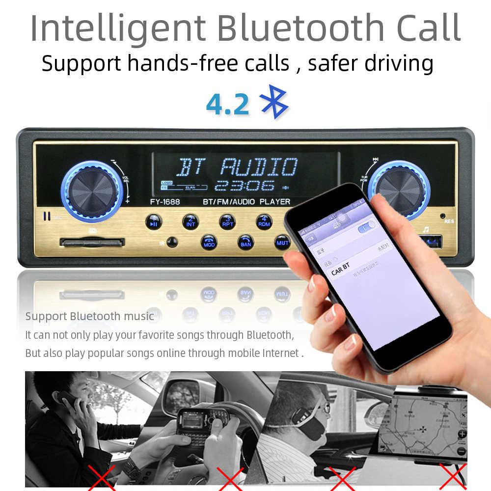 Auto Radio 1 Din Mobil Radio Coche Bluetooth Stereo Audio Penerima FM USB SD AUX Autostereo MP3 Multimedia Player Auto Elektronik