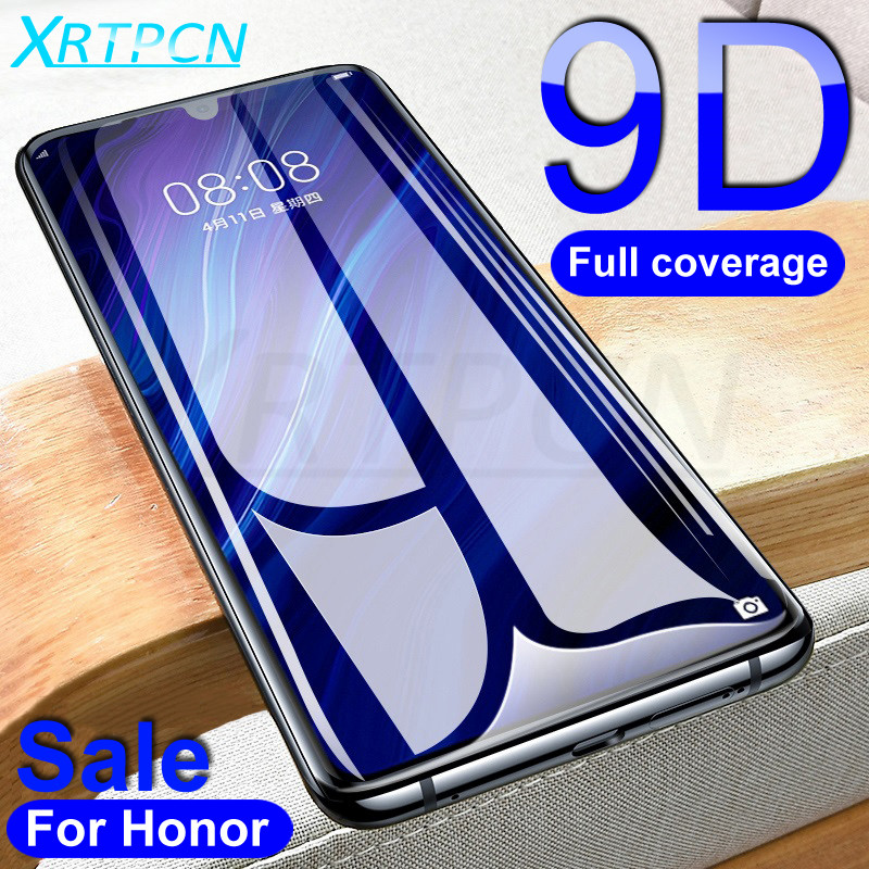 9D Tempered Glass on For Huawei Honor 10 20 Lite V10 V20 10i 20i 20s Screen Protector For Honor 8X 9X 8A 8S Glass Safety Film image