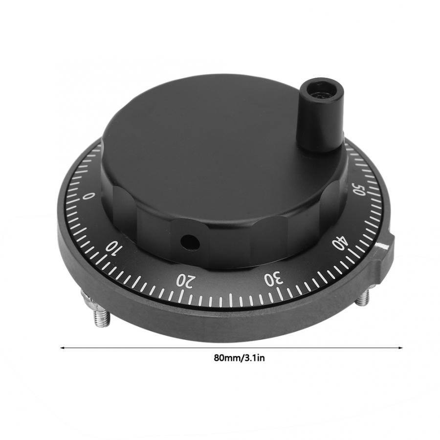 6-контактный переходник с внутренней маховик 5V 80 мм 6Pin импульсный генератор станка с ЧПУ Черный штурвал задвижки 100PPR ручной импульсный генератор Поворотный энкодер