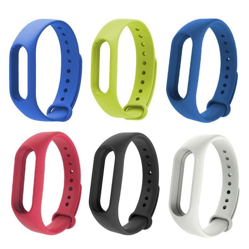 6color Silicone Wrist Strap For Xiaomi MI Band 2 Replacement Watch Band Smart Bracelet Watch Strap Smart Accessories For MIBand2