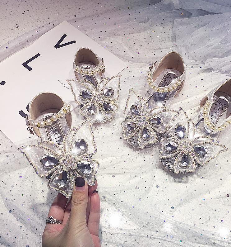 Girls' Fashion Pearl Butterfly Sandals