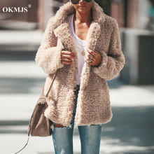 New Women Coat Autumn Winter Faux Fur Jacket Coat