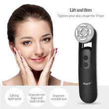 EMS RF Radio Frequency LED Photon Therapy Vibration Facial Massager Skin Rejuvenation Face Lifting Tightening Whitening Beauty 5 galvanic high frequency vibration photontherapy face lift skin rejuvenation face lifting skin tightening firming beauty machine
