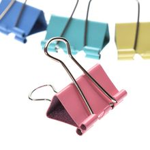 48pcs Colorful Metal Binder Clips Paper Clip 25mm Office School Study  Learning Stationery Supplies Color Random office supply