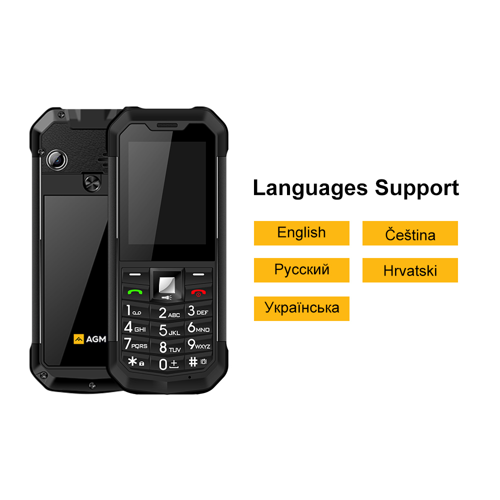Original AGM M3 Russian keyboard Rugged IP68 Waterproof shockproof mobile phone button Dual SIM 1970mAh FM Unlock GSM cellphone