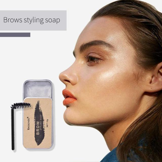 3D Feathery Brows Makeup Balm Styling Brows Soap Kit Lasting Eyebrow Setting Gel Waterproof Eyebrow Tint Pomade Cosmetics TSLM1 4