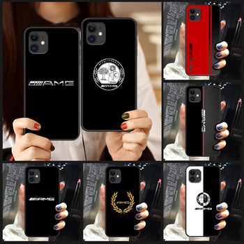 Mercedes Benz AMG Car logo Phone Case Cover Hull For iphone 5 5s se 2 6 6s 7 8 plus X XS XR 11 PRO MAX black bumper 3D funda image