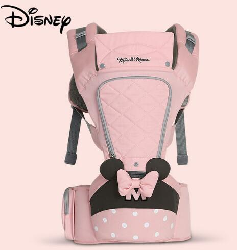 Disney Baby Carrier Waist Stool Newborn Infant Baby Sling Front Facing Kangaroo Baby Wrap Carrier for Baby Travel 0-18 Months
