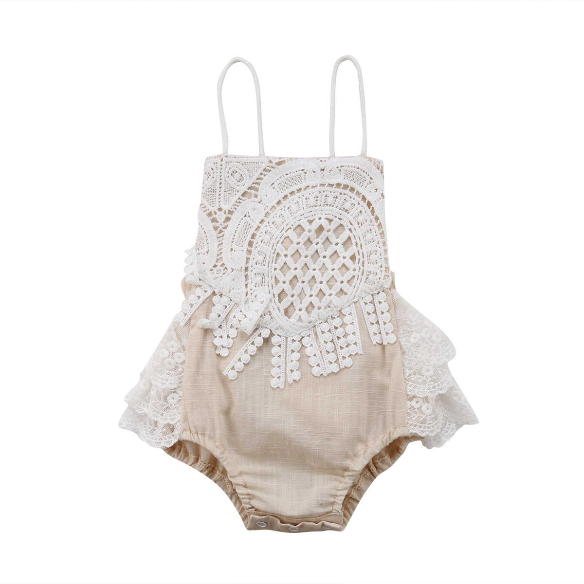 2019 Summer Newborn Bodysuit Baby Girls Lace Jumpsuit Princess Baby Kids Outfits Clothes arrival Children Clothing