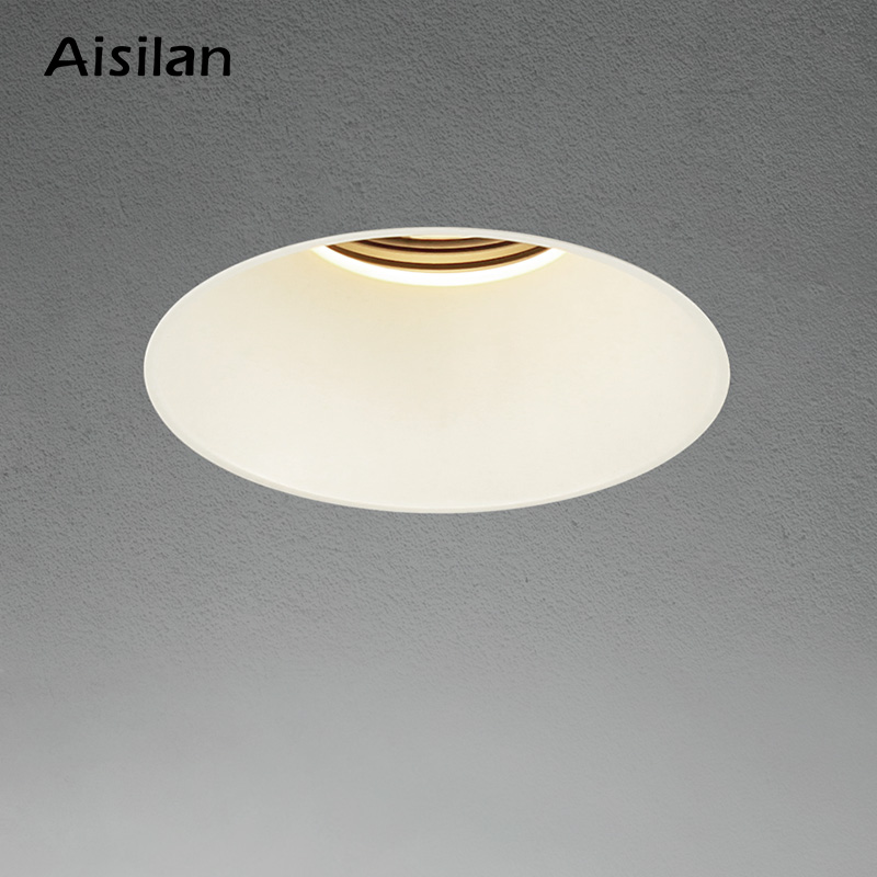 Aisilan Modern LED recessed downlight  frameless built-in spot lamp Minimalist Convenient installation for living room bedroom