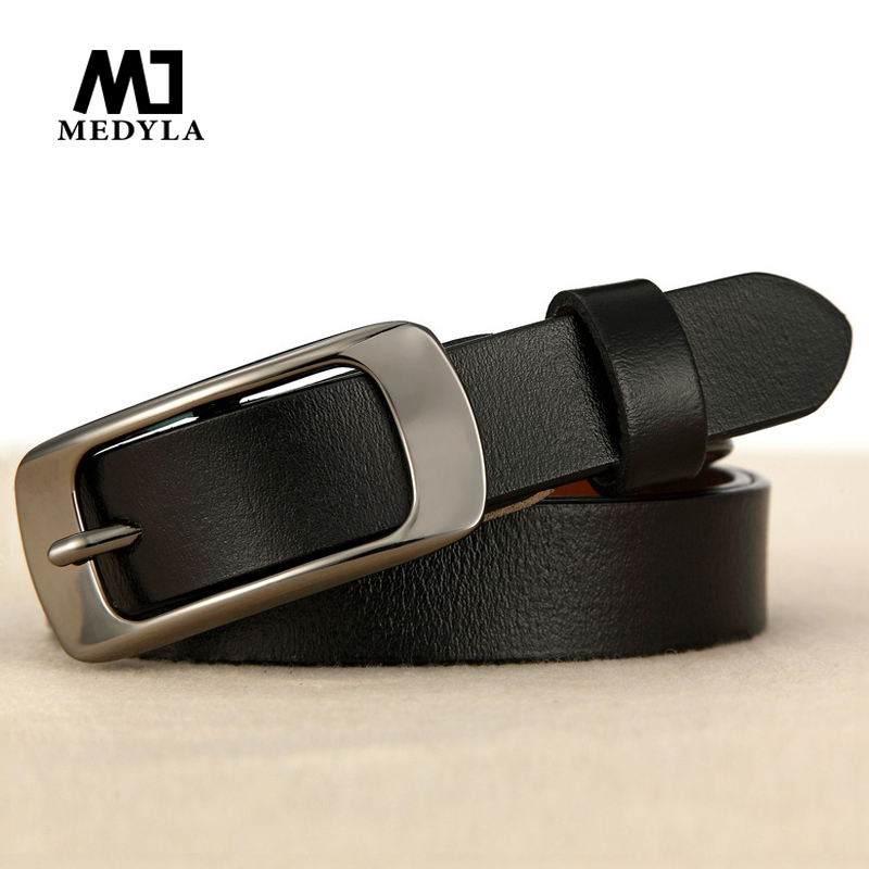 Medyla Female Belt Cummerbund Women  Fashion Leather Thin Section Belt Women's Genuine Leather Strap Female Cummerbund