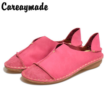Careaymade-Genuine leather shoes ,Pure handmade boots ,The retro art mori girl shoes, Matte shoes,Lazy fashion - discount item  49% OFF Women's Shoes