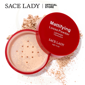 SACE LADY Long Lasting Loose Powder Makeup Matte Face Setting Powder Oil-control Make Up Translucent Brighten Cosmetic Wholesale недорого