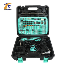 Taladro eléctrico de tungsteno para carpintería, herramientas de grabado, amoladora, máquina de eje flexible para minitaladro Dremel