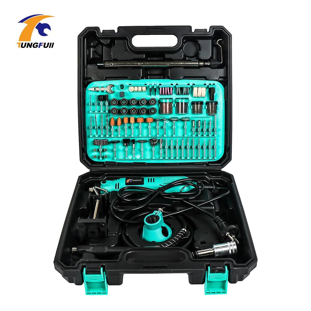 Tungfull Electric Drill Drilling Machine Woodworking Drills Engraver Kit Tools Grinder Flex Shaft Machine For Dremel Mini Drill