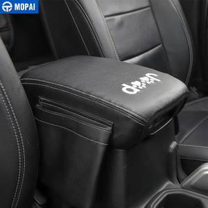 Image 5 - MOPAI Stowing Tidying for Jeep Wrangler JL 2018+ Leather Car Armrest Storage Box Pad Cover Accessories for Jeep Wrangler JL 2019