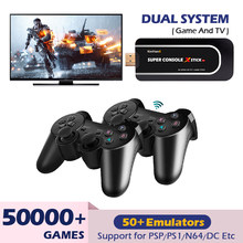 Mini Video Game Consoles 4K HD HDMI Output Wifi Portable Retro Game Emulator Console For PSP/PS1/N64/NDS Built-in 50000+ Games