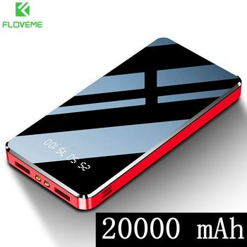 FLOVEME Powerbank 10000 мАч для Xiaomi Power Bank 20000 мАч USB LED Flash Light Carregador Portatil для iPhone 11 Bateria Externa image