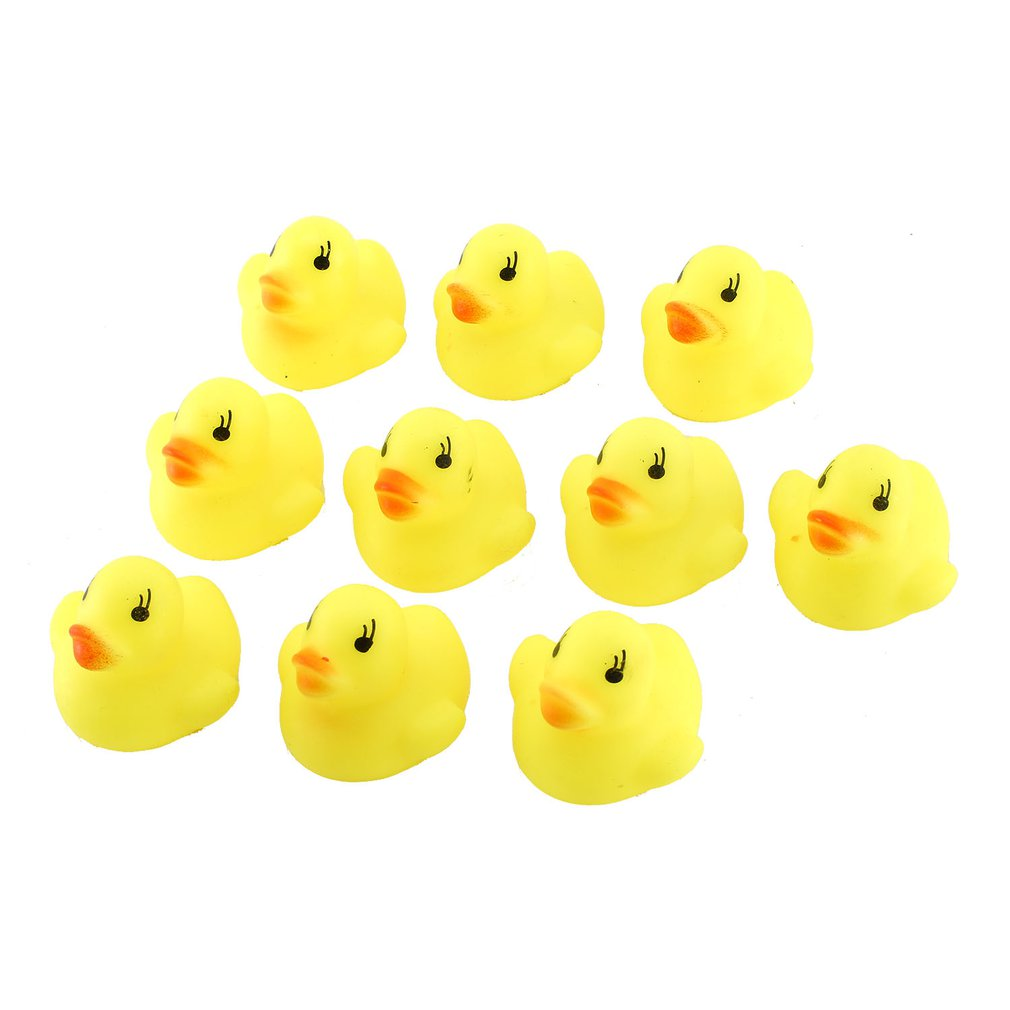 Cute Cartoon Duck Baby Squeaky Rubber Ducks Bath Water Swimming Toys Children Kids Bathing Toys