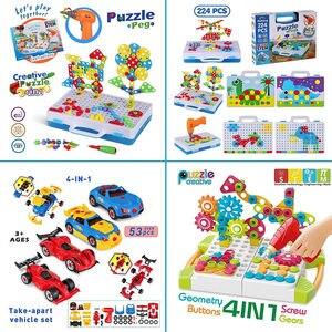 Image 3 - Ensemble de perceuses pour enfants 15 styles, jouets assemblés bricolage, outils éducatifs, perceuse électrique Puzzle écrou à vis démontage tige, jouets pour garçons cadeaux