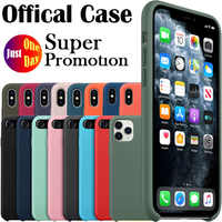 Luxury Original Liquid Silicone Case For iPhone 11 Pro Max X XS XR 6 6s 7 8 Plus Phone Cover With Logo Normal Quality