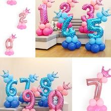 Festival-Ball Balloon-Number Party-Decoration Birthday Digital Super-Big-Balloons Blue