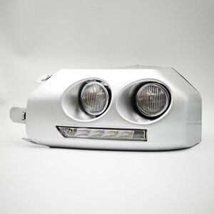 Image 4 - 1ペア車のled drl昼間ランニングライトトヨタfjクルーザー2007 2008 2009 2010 2011 2012 2013 2014フォグランプフレームフォグライト