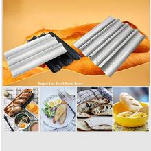 French Bread Baking Mold Bread Wave Baking Tray Practical Cake Baguette Mold Pans 2/3/4 Groove Waves Bread Baking Tools 3 4 groove waves french bread baking tray bread baking pan reusable non stick baguette bread wave mold toast baking supplies
