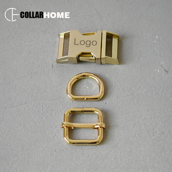 20 sets metal buckle engrave logo name phone clip clasp 15mm straps D rings for bag dog collar supplies DIY sewing accessories