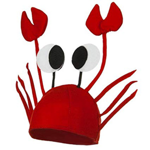Red Lobster Crab Sea Animal Hat Funny Christmas Gift Costume Accessory Adult Child Cap Happy New Year