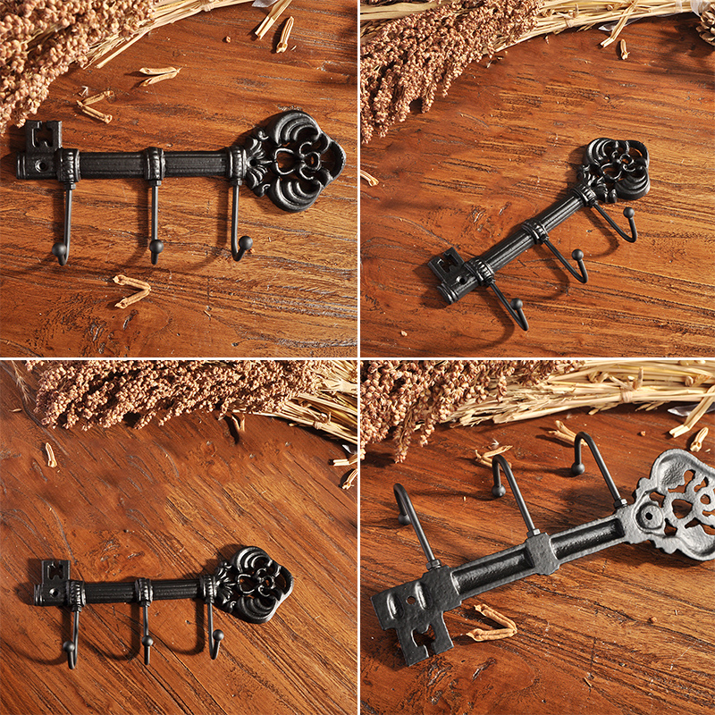3 Claws Wall Hook Keys Decorative Display Hanger Accessories Holder Vintage 1pc