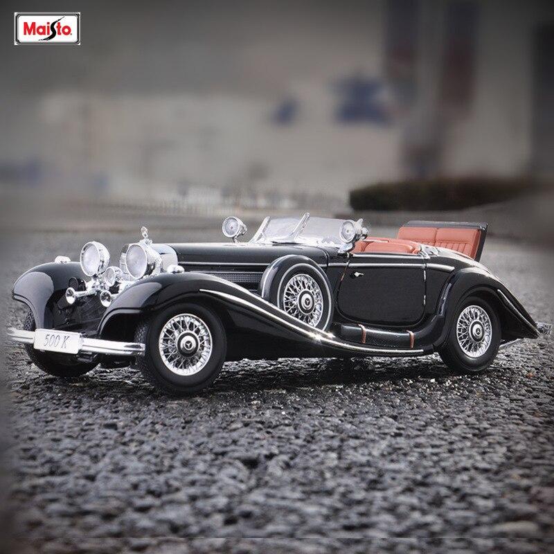 Maisto 1:18 Mercedes 500k модель автомобиля из сплава моделирование украшения автомобиля коллекция Подарочная игрушка Литье под давлением модель игрушка для мальчиков|Игрушечный транспорт|   | АлиЭкспресс
