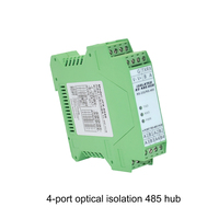 4 port optical isolation 485 hub 1 way RS232 to 4 way RS485 industrial grade HUB rail type