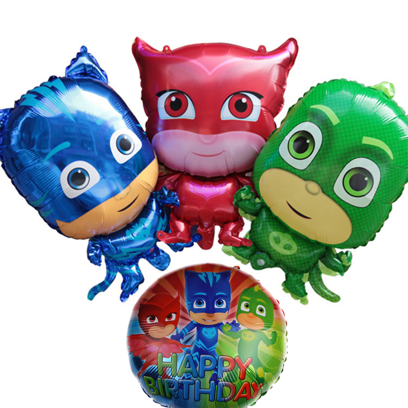 PJ Masks Balloons Birthday Party Sets 1pc Cartoon Pj Masks Birthday Party Action Figure Children's Gifts Toy Aluminum Balloon