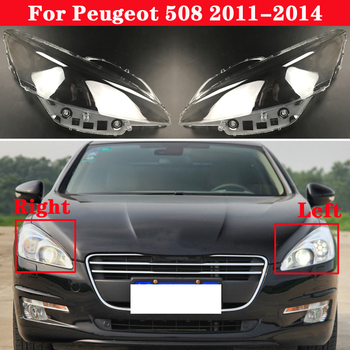 For Peugeot 508 2011-2014 Car Bright Head Light Shade Shell Caps Front Headlamp Lamp cover Lampshade Headlight head torch headlamp cree 3 xml t6 led headlight 9000lm 4 modes head flashlight for hunting fishing led 18650 head lamp charger