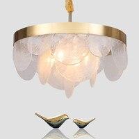 Designer moderno lustre simples lâmpada de vidro redonda quarto ouro sala estar lâmpada|Luzes de pendentes| |  -