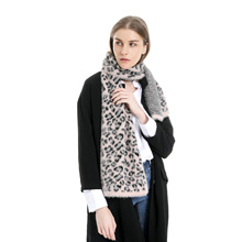 Long Hair Winter Scarves Women Printed Leopard Cashmere Blanket Scarf and Shawls Keep warm